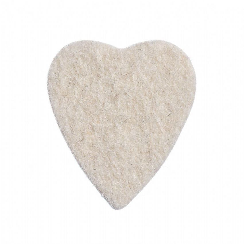 Felt Tones Heart - Natural - 1 Ukulele Pick | Timber Tones